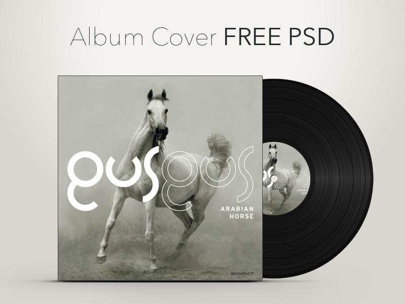 Vinyl Record Album Cover Graphic PSD