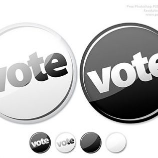 Vote Now Button PSD