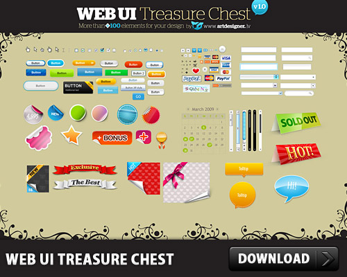 Free WEB User Interface Treasure Chest www, Web Elements, Web 2.0, Web, Text Fields, Sticky, Stickers, Scroll Bar, Scroll, Ribbon, Psd Templates, PSD Sources, PSD Set, psd resources, PSD images, psd free download, psd free, PSD file, psd download, PSD, Peel, Layered PSDs, Icons, Icon PSD, Glossy, Free PSD, Free Icons, Free Icon, Forms, Elements, download psd, download free psd, Check Boxes, Calendar, Buttons, Bullets, Banners,