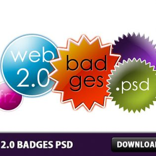Web 2.0 Badges Free PSD