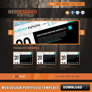 Web Design Portfolio Template PSD