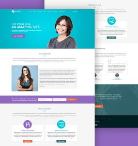 Web Development Company Website Template Free PSD