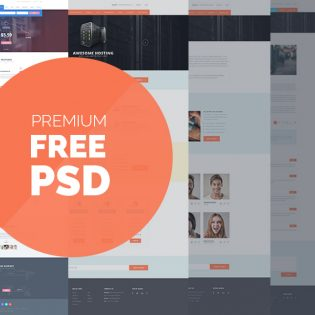 Web Hosting Clean Template Free PSD