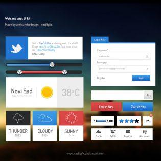 Web and App UI Kit PSD file