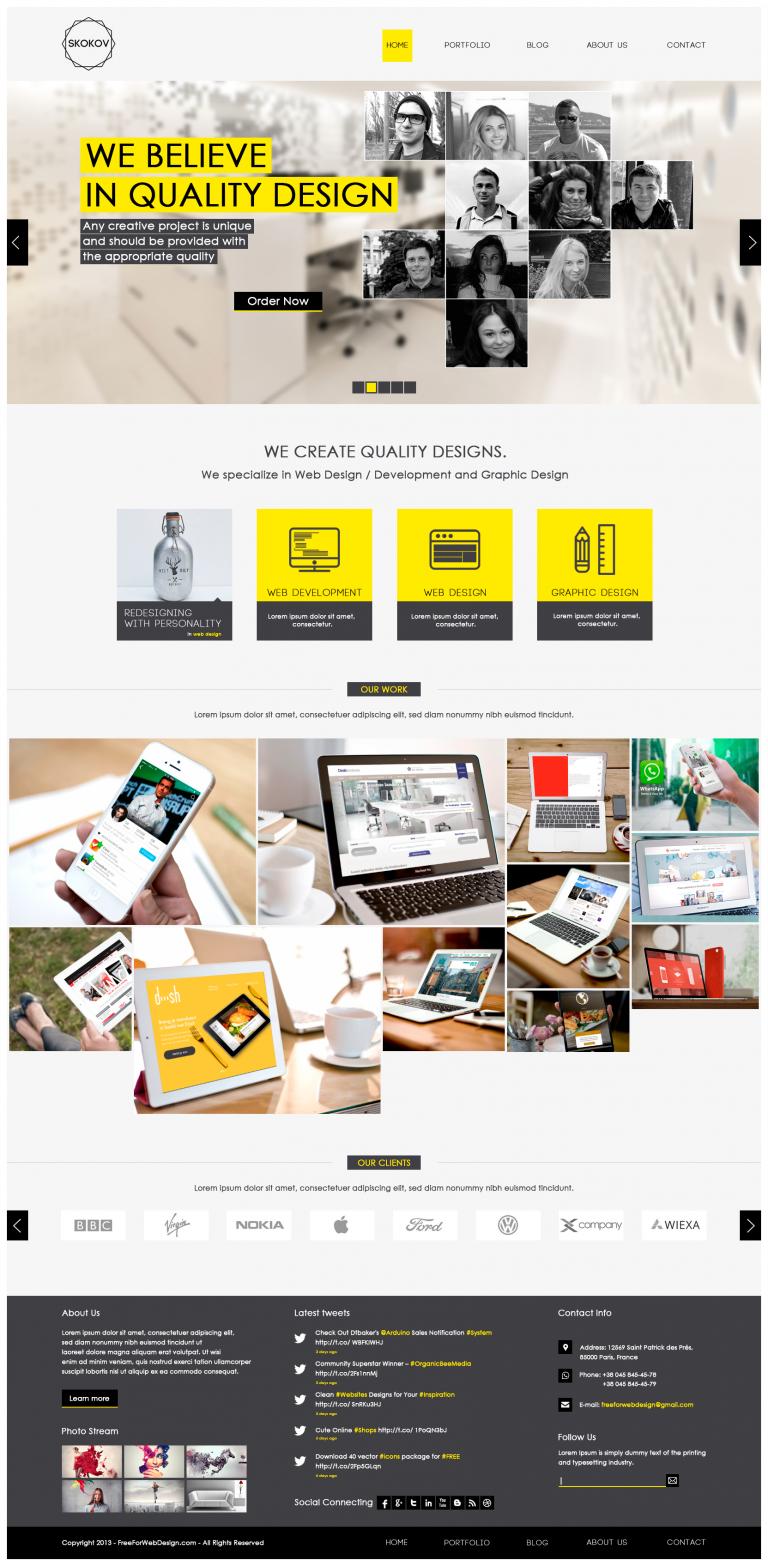 Web And Graphic Design Portfolio Website Template Psd