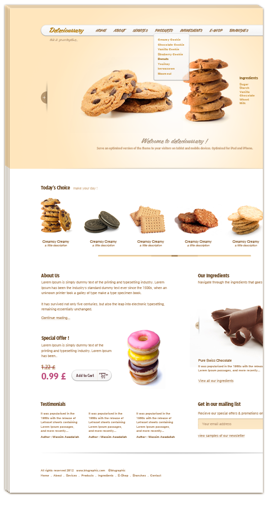 Delecioussary Cookies Website Template PSD www Website Template Website Layout Website webpage Web Template Web Resources web page Web Layout Web Interface Web Elements Web Design Web User Interface UI Template Resources Psd Templates PSD Sources psd resources PSD images psd free download psd free PSD file psd download PSD Photoshop Layered PSDs Layered PSD hungry Graphics Freebies Free Resources Free PSD free download Free Food Elements download psd download free psd Download Cookies Adobe Photoshop