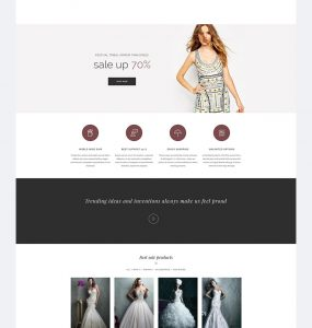 Wedding eCommerce Shopping Website PSD Template