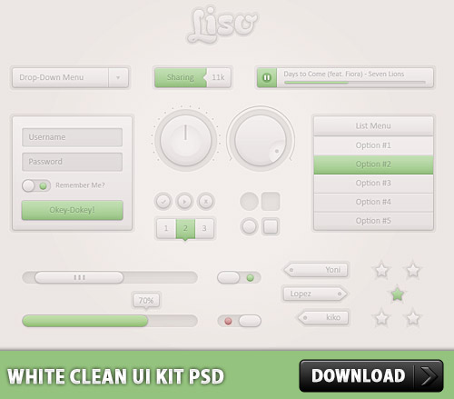 White Clean UI Kit Free PSD Web Resources Web Elements User Interface UI Slider Scroll Bar Resources Rating Psd Templates PSD Sources psd resources PSD images psd free download psd free PSD file psd download PSD Player Photoshop Music Player Layered PSDs Icon PSD GUI Graphical User Interface Free Resources Free PSD Free Icons Free Icon Free Elements Drop Down Menu Drop Down download psd download free psd Download Bar Download Check Boxes Buttons Adobe Photoshop