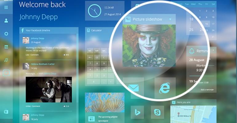 Windows 9 Concept Free PSD