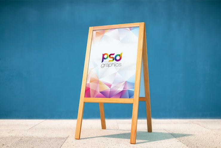 Exhibition Stand Mockup Free Download : Wooden display stand mockup free psd download