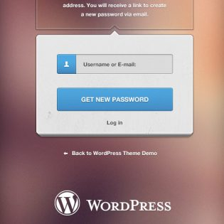 WordPress Login Free PSD