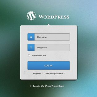 Wordpress Login Screen Free PSD File