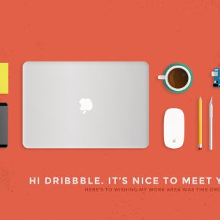 Work Area Desk Objects PSD