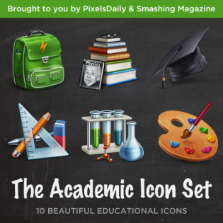 Academic Icon Set PSD