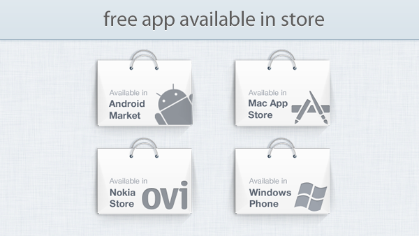 App Available in Store Promo Graphics PSD