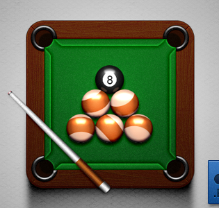 Billiard Icon Free PSD