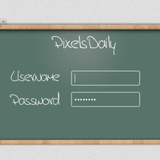 User Login Blackboard Free PSD file