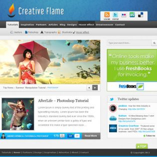 Blue Blog Free PSD Template