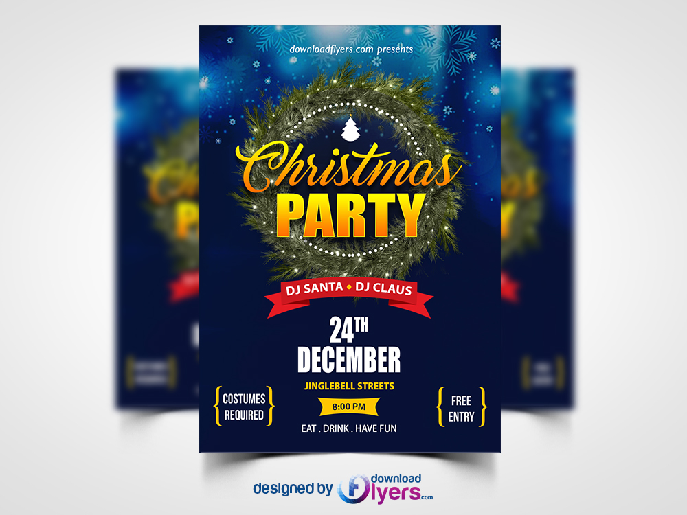 Christmas Party Flyer Template Psd Download Download Psd