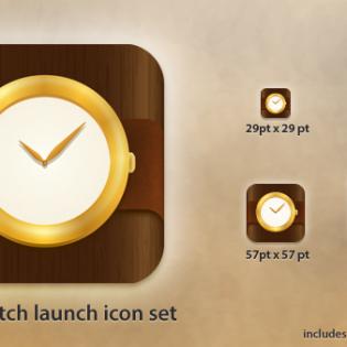 Clock App Icon Free PSD