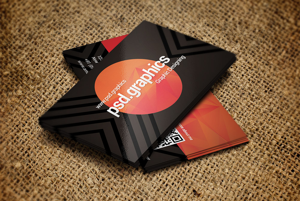 Creative Dark Business Card Template PSD