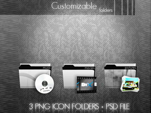 Customizable Folders Icons PSD PNG Icons Layered PSDs Icons