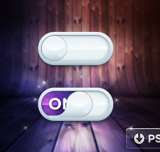 Raindrop iOS Toggle PSD