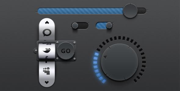 Dark Torn UI PSD Kit