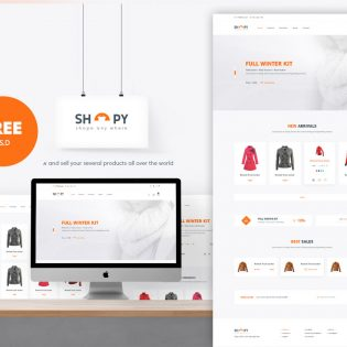 eCommerce Shopping Website Template Free PSD