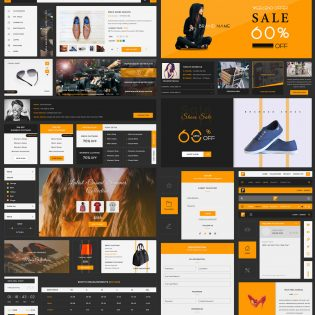 eCommerce UI Kit Free PSD Template