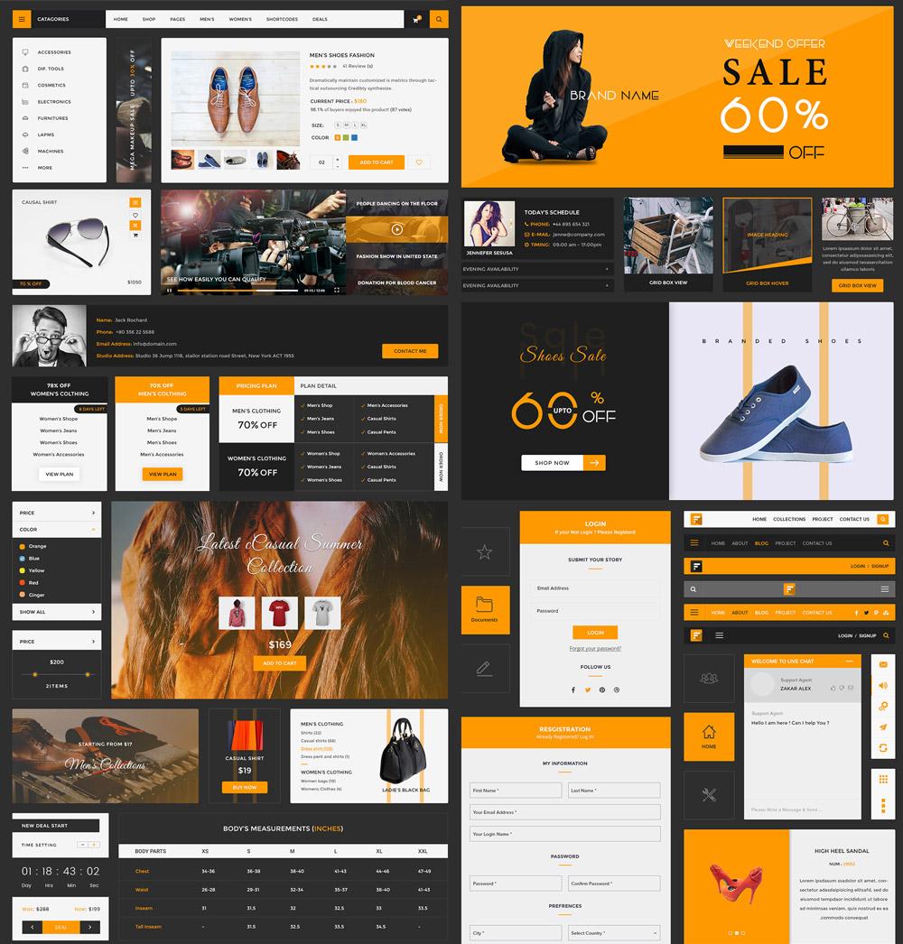 eCommerce UI Kit Free PSD Template
