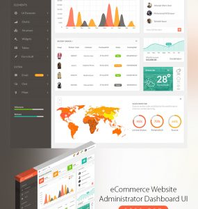eCommerce Website Administrator Dashboard UI Free PSD