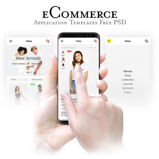 eCommerce Website App Templates PSD