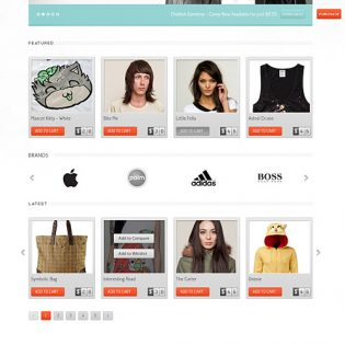 eCommerce Website Free PSD