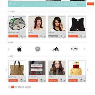 eCommerce Website Free PSD