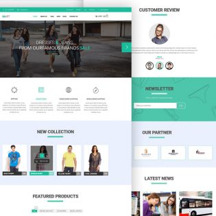 eCommerce website Free PSD Template