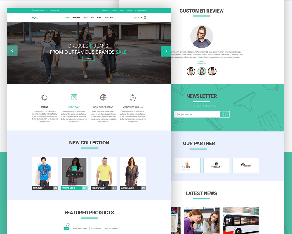 Ecommerce website free psd template download psd for E commerce sites templates