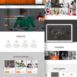eLearning Education Website Free PSD Template
