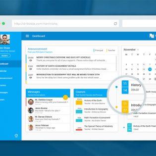 eLearning Educational Website Dashboard UI Free PSD