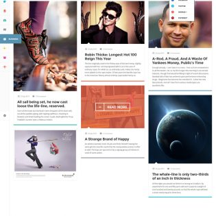 Extraordinary Magazine Layout Template PSD