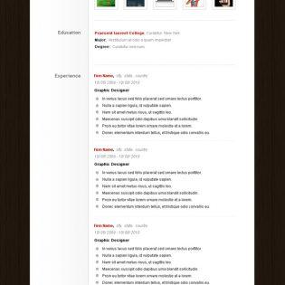 Resume CV PSD Template