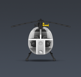 Helicopter Icon Free PSD