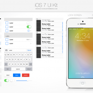 iOS 7 UI Kit PSD file
