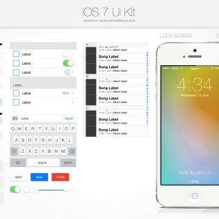 iOS 7 UI Kit PSD file