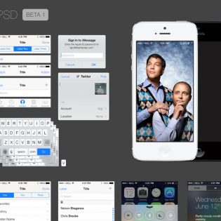 iOS 7 GUI PSD file