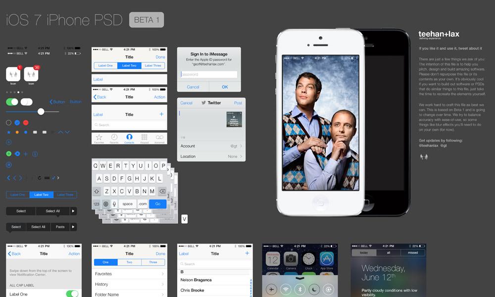 iOS 7 GUI PSD file