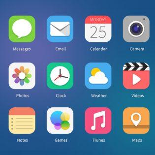 iOS7 Icons Concept PSD File