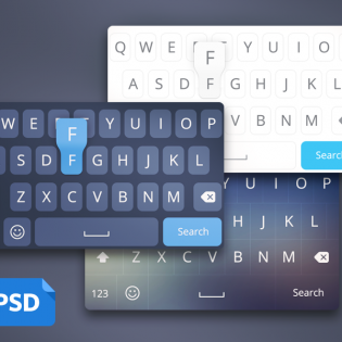 iOS8 Keyboard Layout UI PSD
