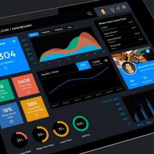 iPad Dashboard UI Design Kit PSD