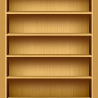 iPad Inspired Bookshelf PSD